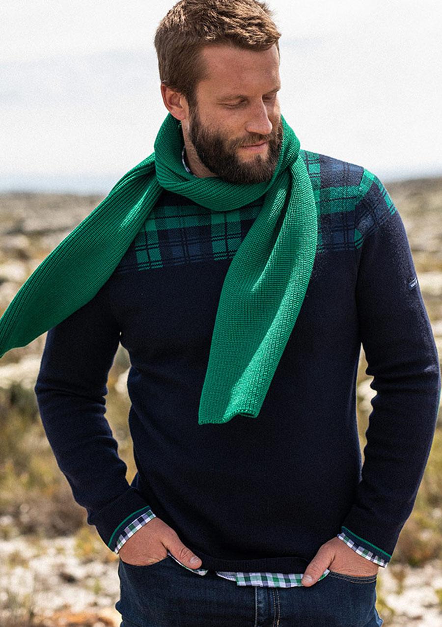 Pullover von Saint James «Oslo» in Amiral-grün