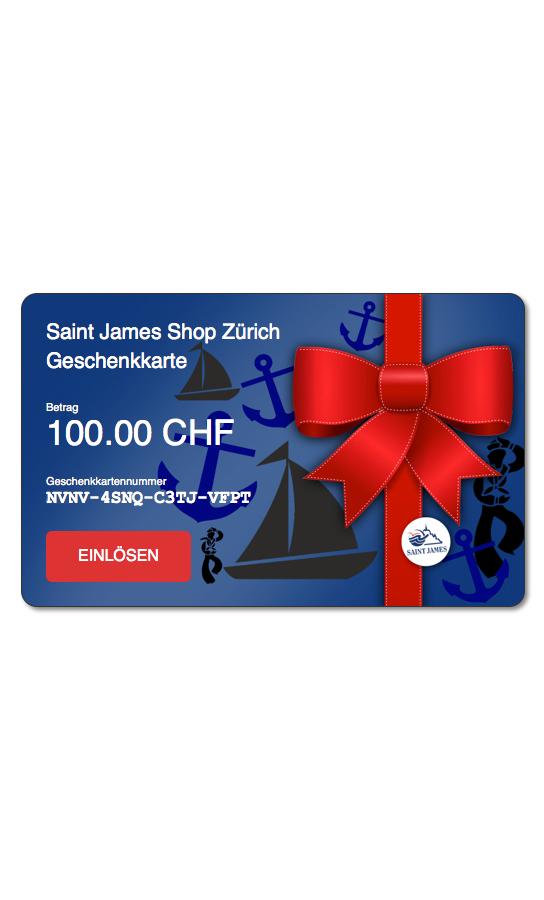 Geschenkkarte Saint James Shop Zürich